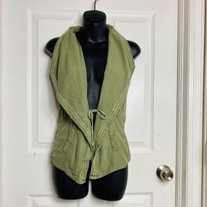 MUDD Womens Olive Green Vest Size Small